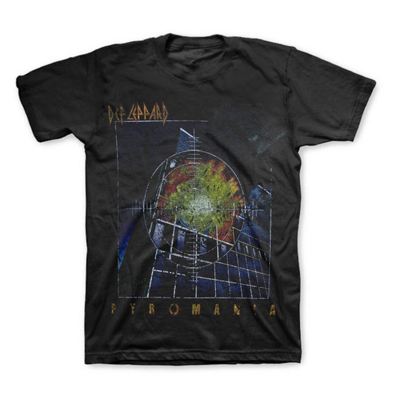 Authentic Def Leppard Rock Of Ages Pyromania Vintage Distress Adult Soft T-shirt
