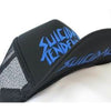 Suicidal Tendencies OG Logo Black Body BLUE Print Flip Up Hat Cap-Cyberteez