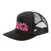 Suicidal Tendencies OG Logo Black Body PINK Print Flip Up Hat Cap-Cyberteez