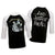 Metallica And Justice For All Raglan 3/4 Sleeve Jersey T-Shirt