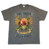 Five Finger Death Punch Locked & Loaded Tour Gray T-Shirt w/ Dates-Cyberteez