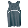 Metallica Logo Charcoal Gray Men's Tank Top-Cyberteez