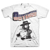 Waylon Jennings Outlaw White T-Shirt-Cyberteez