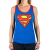 Supergirl Superman Logo Women's Racerback Costume Tank Top-Cyberteez