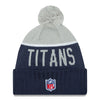 Tennessee Titans NFL New Era On Field Sport Knit 2015-16 Pom Beanie Knit Hat Cap-Cyberteez