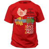 Woodstock Festival Poster RED 3 Days Of Peace And Music T-Shirt-Cyberteez