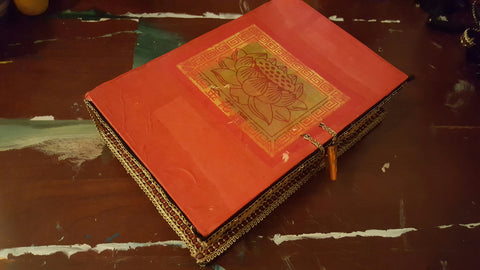 "Decorative Secret 9"" x 6"" Book Box. Lotus Flower. Creative Gift"