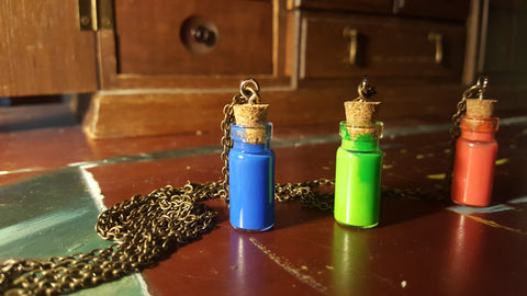 Legend of Zelda Potion Necklaces. Creative Gift for Gamers. Unique Nerd Fashion