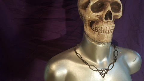 Legend of Zelda Triforce Necklace. Creative Gift for Zelda Fans. Dark Link Tribute.