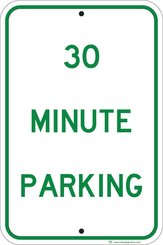 30 Minute Parking - ParkingSignWarehouse