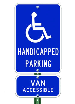Handicapped Parking Combo - ParkingSignWarehouse