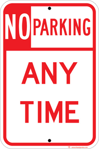 No Parking Any Time - ParkingSignWarehouse