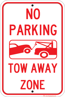No Parking Tow Away Zone - ParkingSignWarehouse
