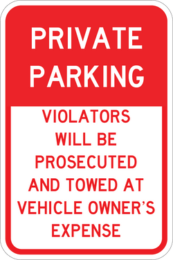 Private Parking - ParkingSignWarehouse