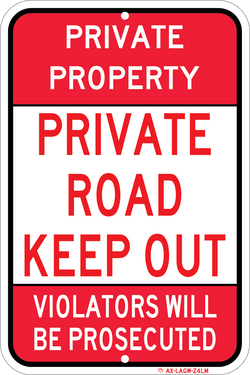 Private Road Keep Out - ParkingSignWarehouse