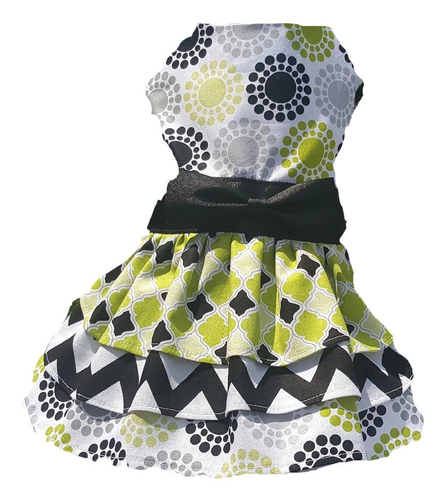 Green and Black Triple Layer Skirt - Chic Doggie Boutique  - 1