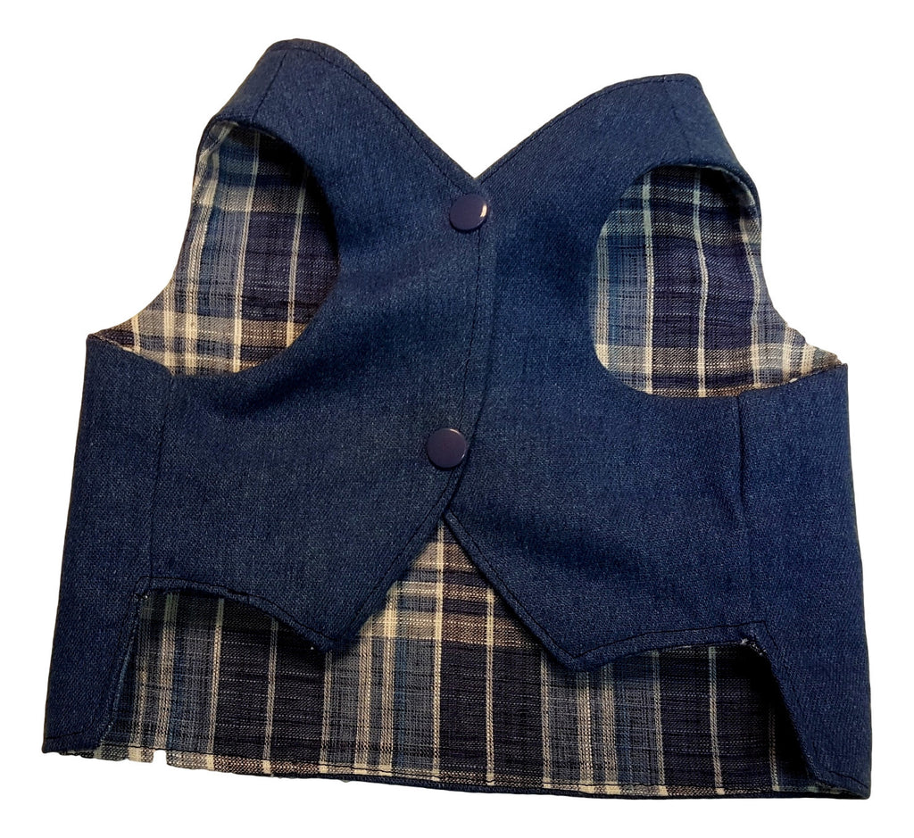Denim and Blue Plaid - Chic Doggie Boutique  - 1
