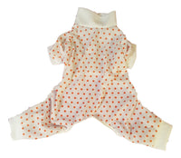 White with Orange Dots - Chic Doggie Boutique  - 1
