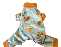 Light Blue Puppies Print, Pajamas - Chic Doggie Boutique  - 1