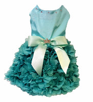 Aqua Ruffles - Chic Doggie Boutique  - 1