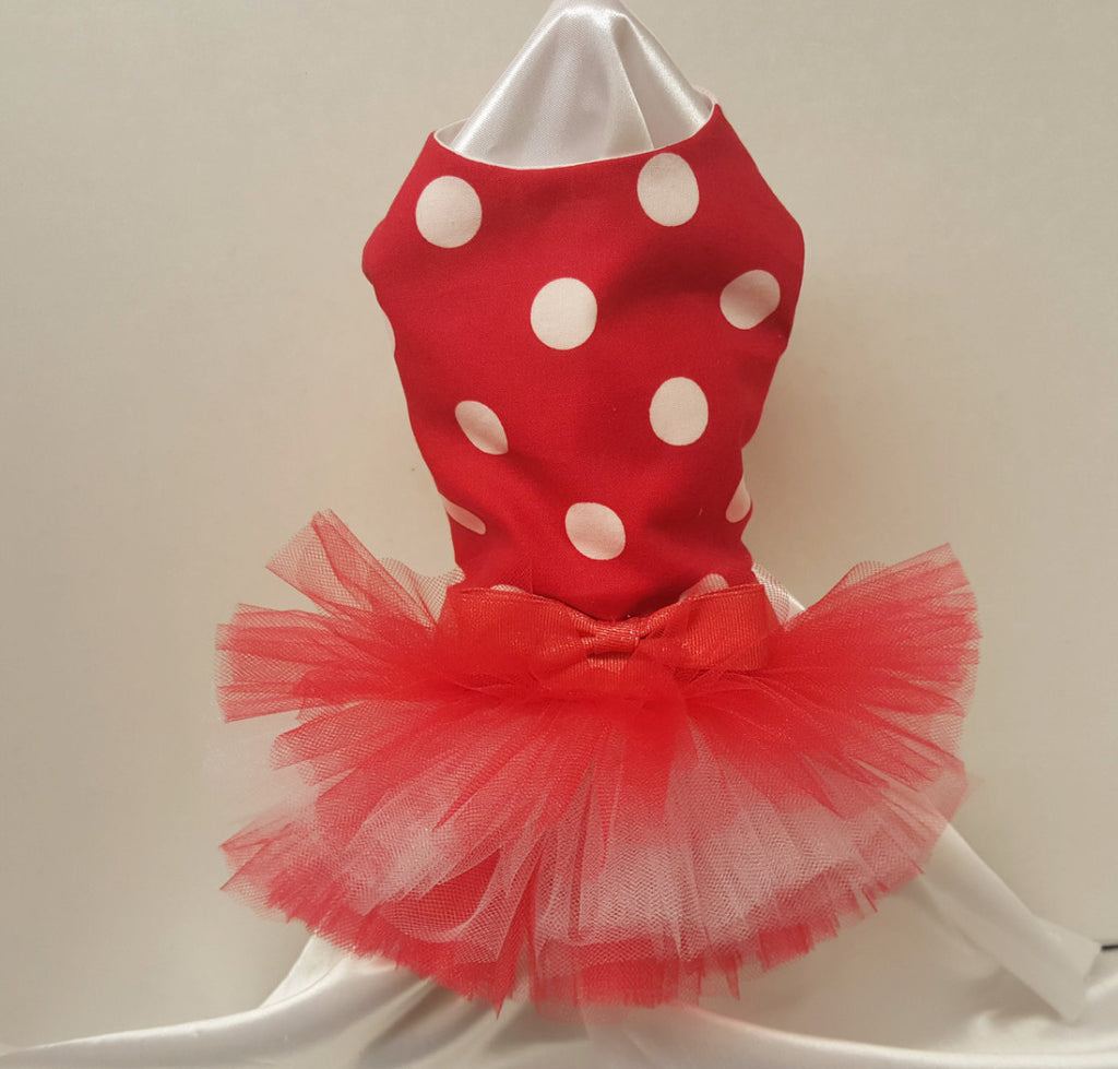 Red and White Polka Dots - Chic Doggie Boutique  - 1