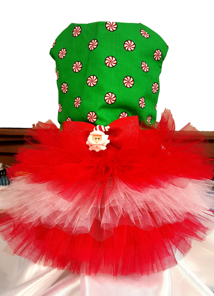 Candy Tutu Christmas Dress - Chic Doggie Boutique  - 1
