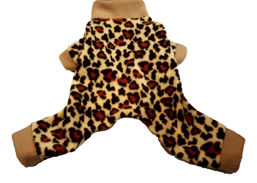 Cheetah Print Fleece Pajamas - Chic Doggie Boutique