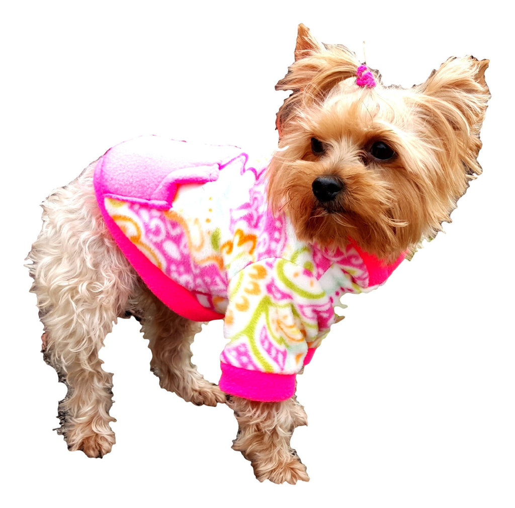 Hot Pink with Flowers - Chic Doggie Boutique  - 1