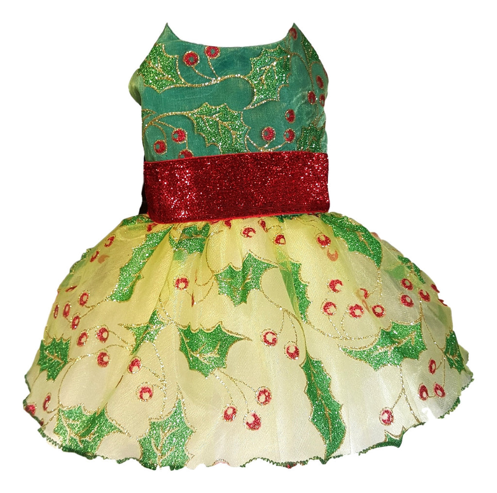 Holly Berry Christmas Dress - Chic Doggie Boutique  - 4
