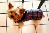 Pink Plaid Coat - Chic Doggie Boutique  - 1