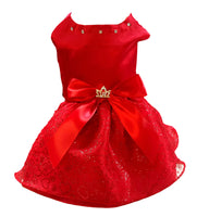 Red Satin and Hearts - Chic Doggie Boutique  - 1
