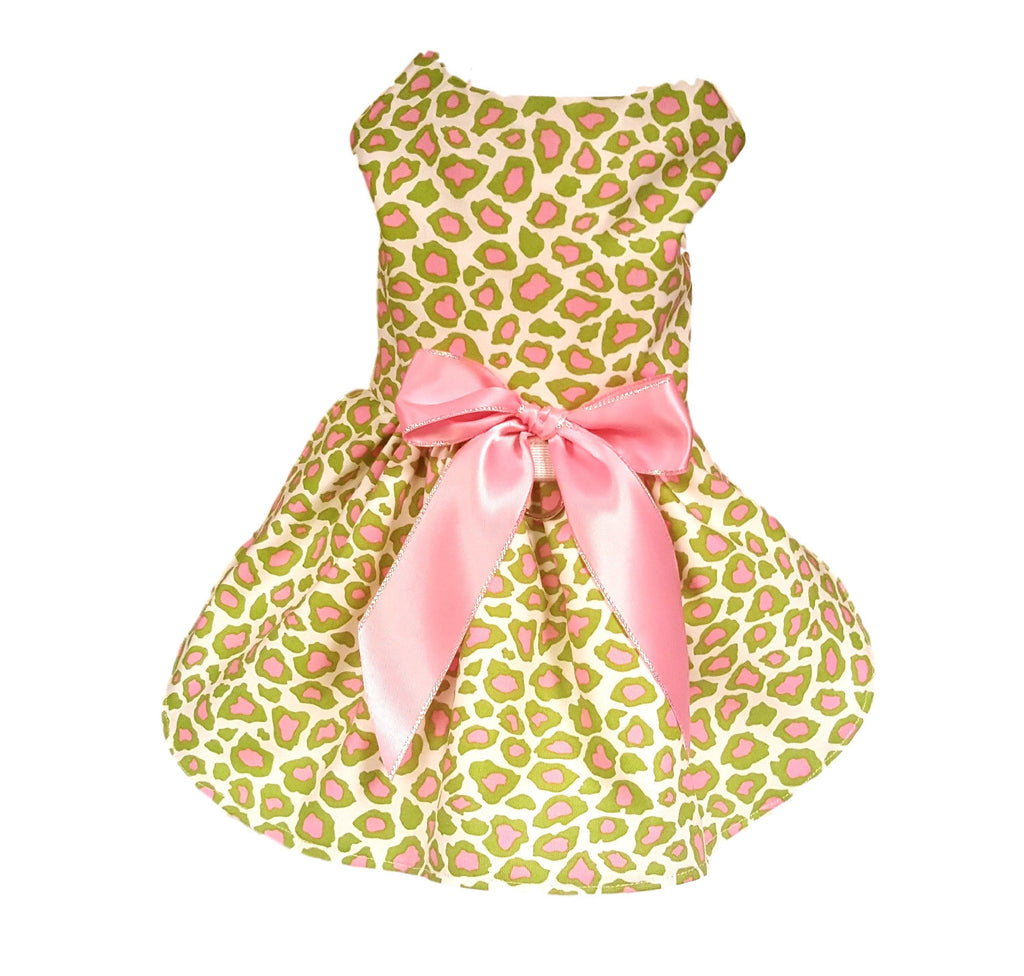 Pink and Green Cheetah - Chic Doggie Boutique  - 1