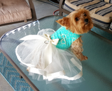Green Floral Tutu - Chic Doggie Boutique  - 1