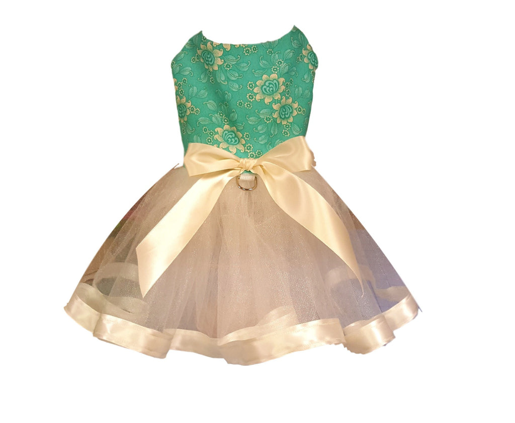 Green Floral Tutu - Chic Doggie Boutique  - 2