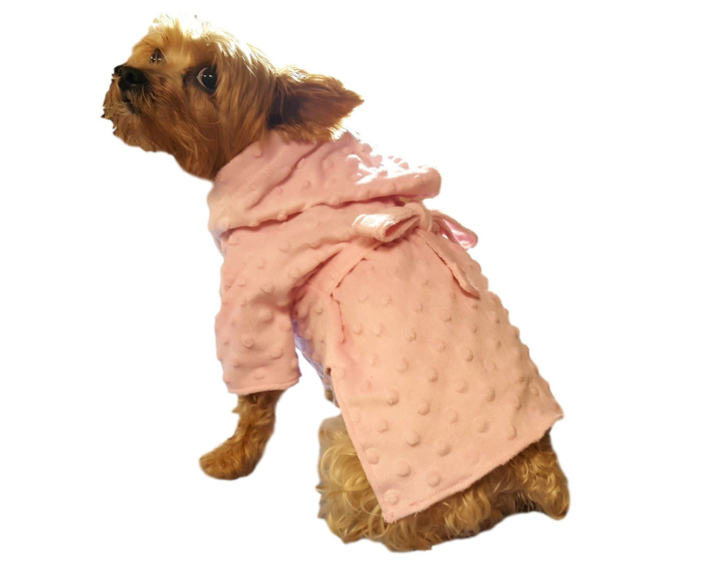 Pink Bathrobe - Chic Doggie Boutique  - 1