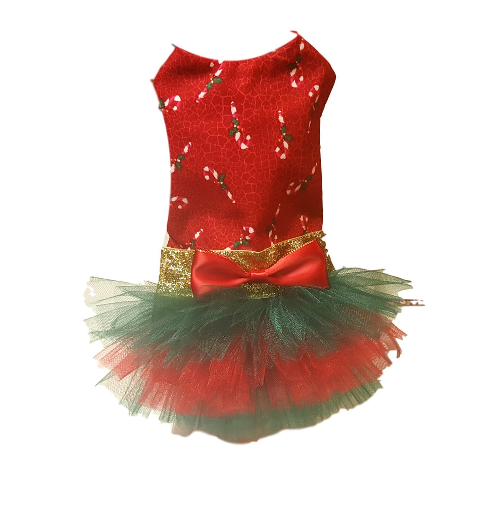 Red Candy Cane Tutu Dress