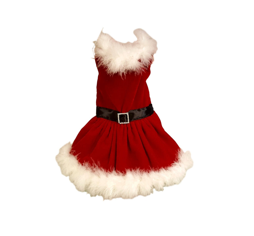 Red Velvet Christmas Dress - Chic Doggie Boutique
