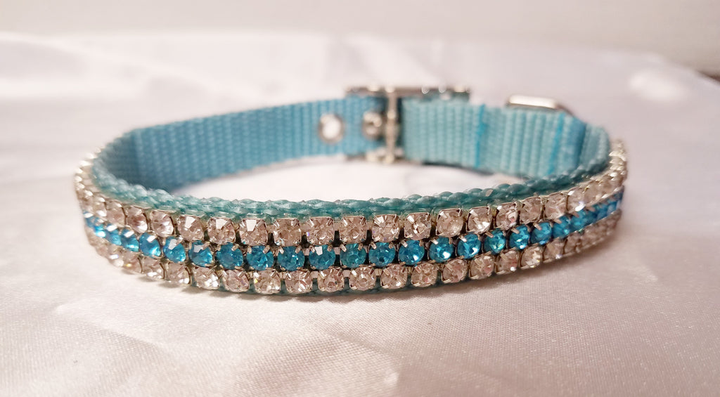 Aqua and Clear Crystals - Chic Doggie Boutique  - 1