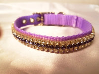 Light Purple Crystal Dog Collar - Chic Doggie Boutique