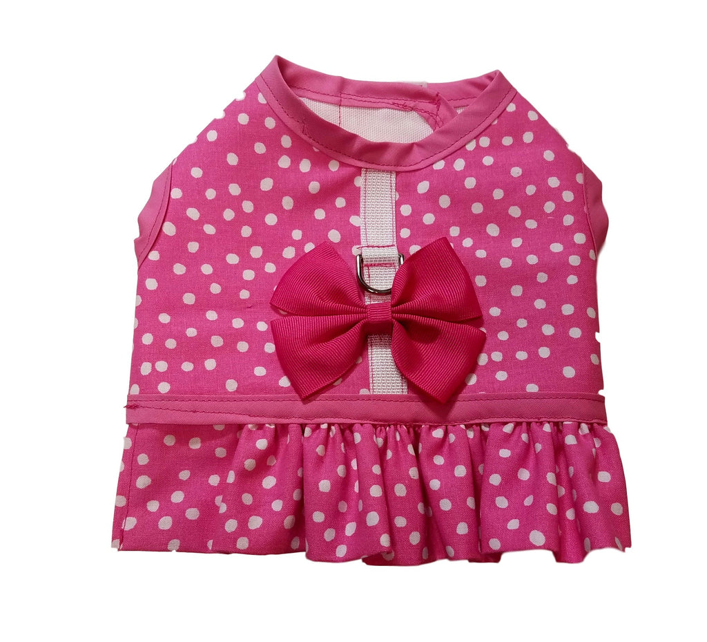 Pink Dot Harness with Ruffle