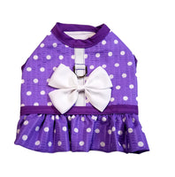 Purple Dot Harness with Ruffle