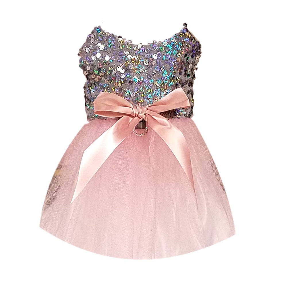 Silver Sequins with Pink Full Tutu