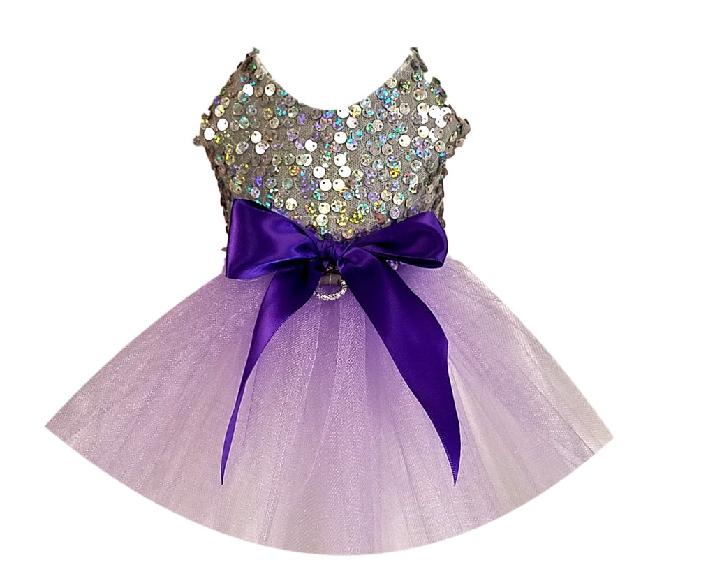Silver Sequins with Purple Full Tutu