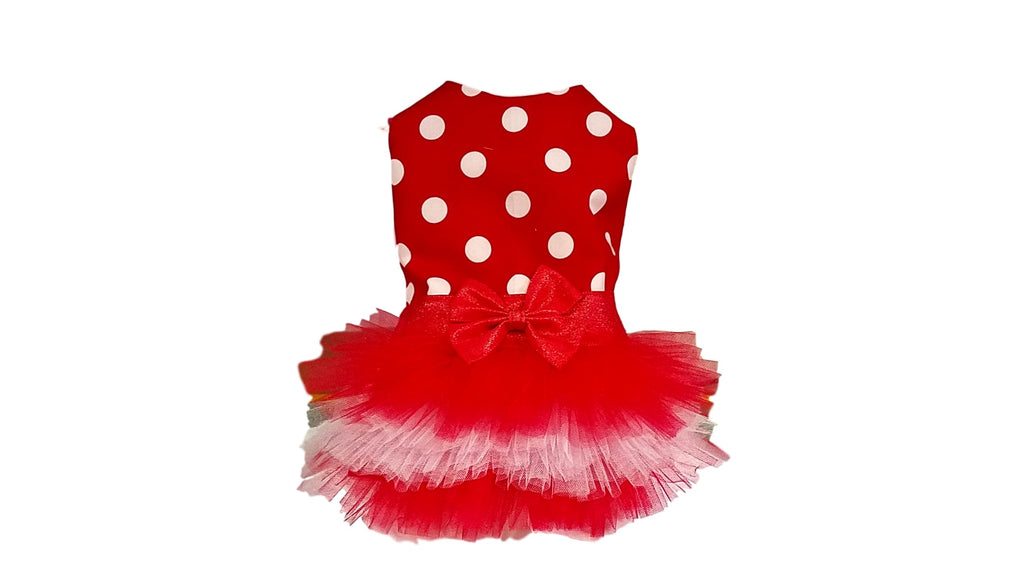 Red and White Polka Dot Tutu