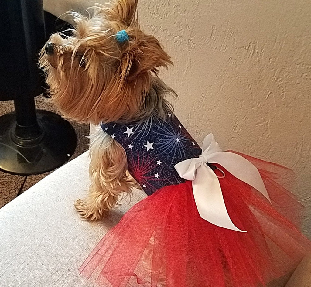 Patriotic Dog Tutu Dress