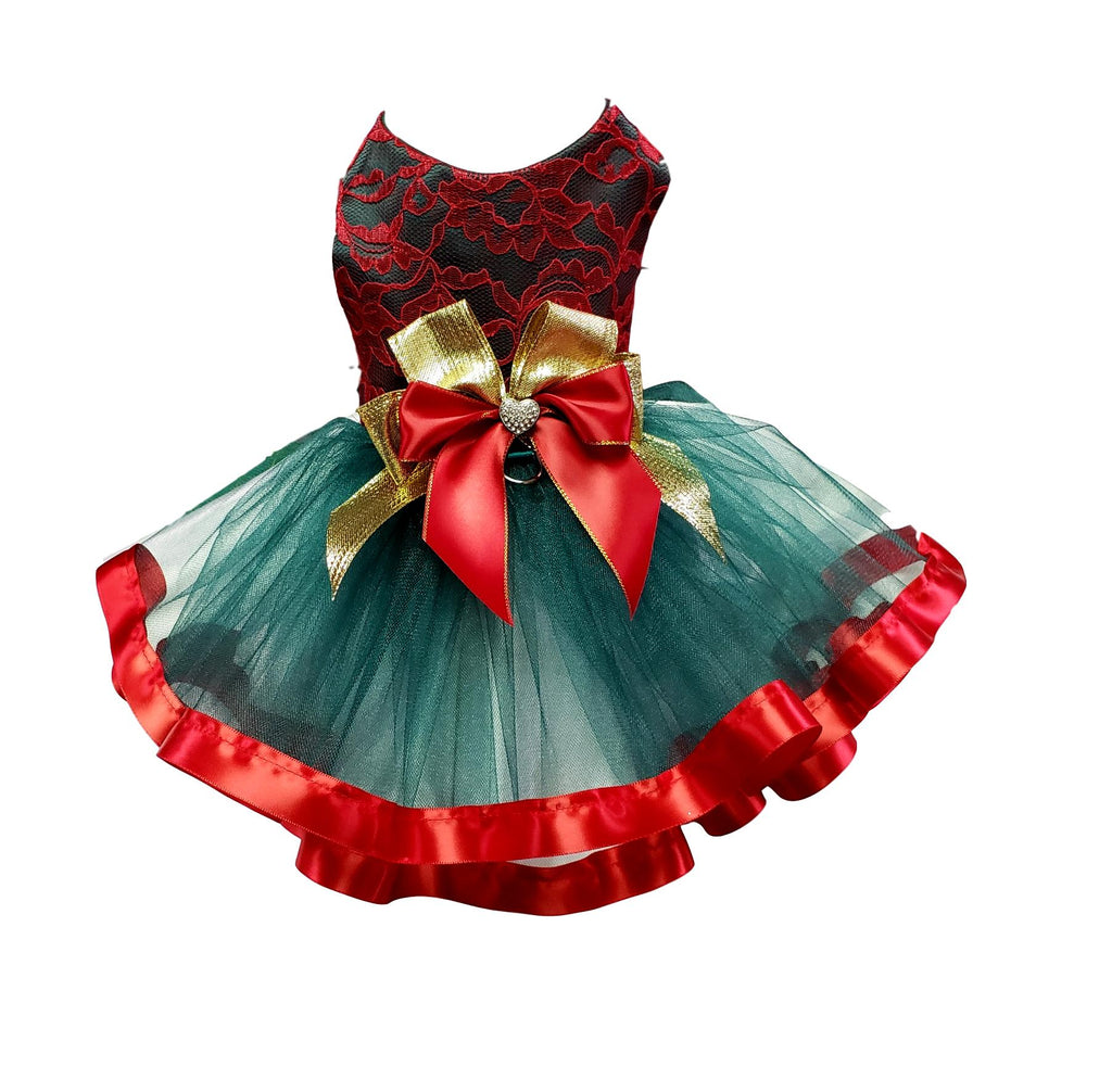 Green and Lace Tutu Christmas Dress