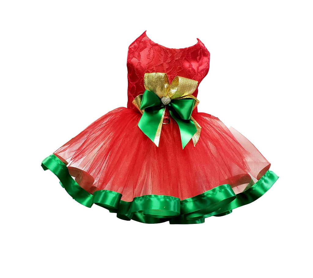 Red Lace Tutu Christmas Dress