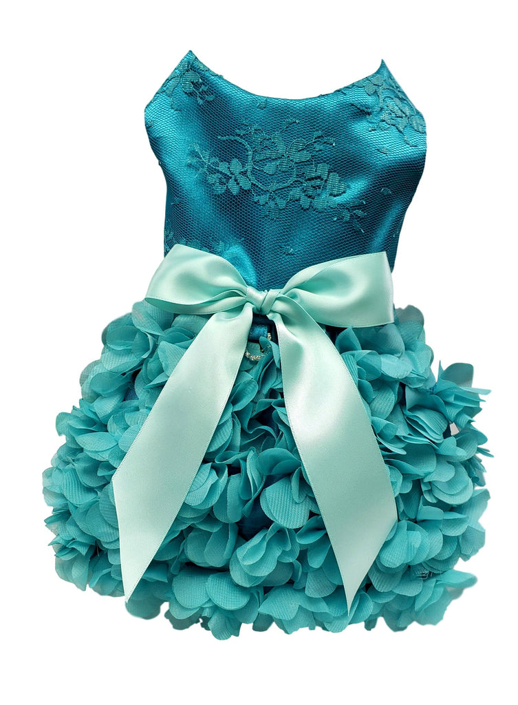 Aqua Ruffles and Lace