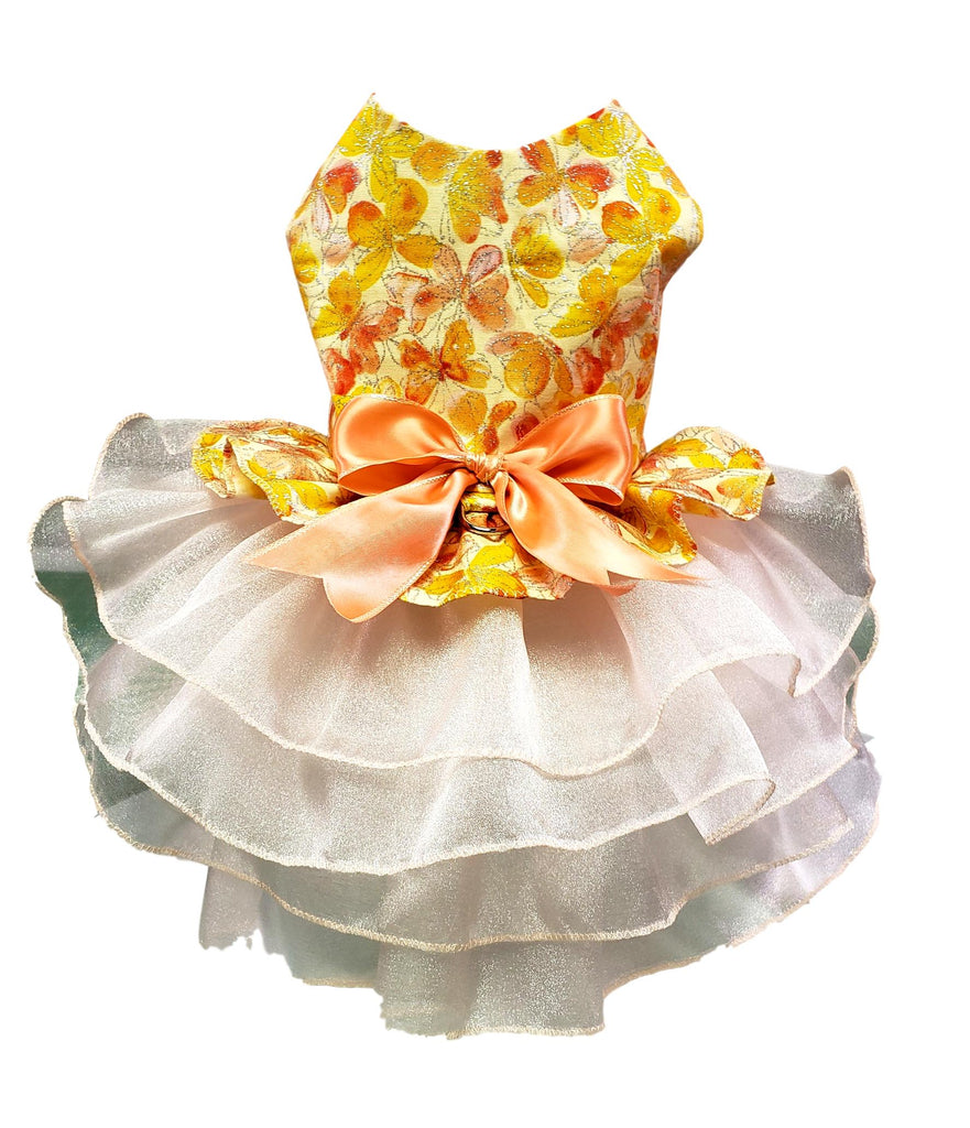 Peach Butterfly with Full Organza Skirt