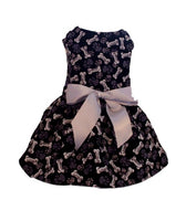 Bones and Paw Prints Dog Dress